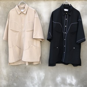 """TAUPE  """"tw tropical western s/s shirt"""""""