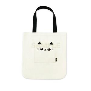 猫 トートバック(o-cat 白)