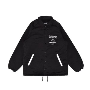 EXAMPLE x SCHOTT CIRCLE EMBRODIERY NYLON JACKET / BLACKxBLACK