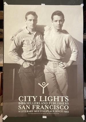 Jack Kerouac & Neal Cassady City Lights ポスター