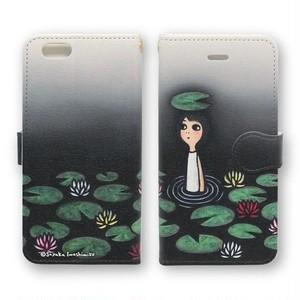 手帳型iPhoneケース(沼の主)X、8、7、6/6s、5/5s/SE