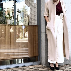 NO COLLAR COAT/BEIGE