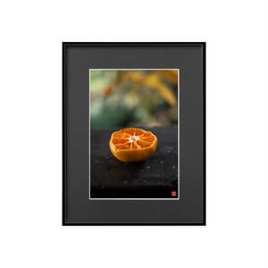 バルコニーのオレンジ(ブラックボード)A4サイズ