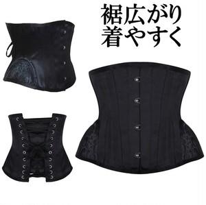 裾広がり型 ショートコルセット アンダーバスト 編み上げ スチールボーン 女性 くびれ ダイエット 骨盤部分広がり ショート丈 短め丈