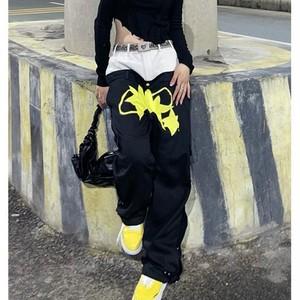 【ボトムス】個性的設計感ありファッションストリート系男女兼用パンツ50050417