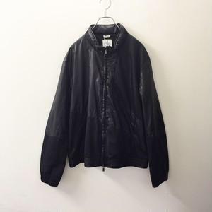 Calvin Klein 切り替えデザインポリエステルジャケット ブラック色 メンズ古着