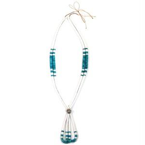 Navajo Turquoise & White Turquoise Jacla Necklace