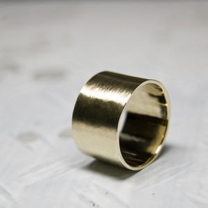 真鍮フラットリング 12.0mm幅 マット 3号~27号|WKS FLAT RING 12.0 bs matte|FA-365