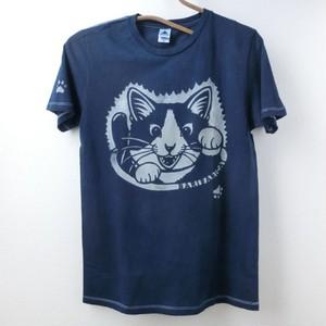藍染めTシャツ 招き