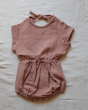 【MARSOU 21SS】COQUILLAGE ロンパース キャラメル