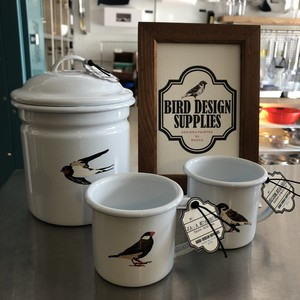 BIRD DESIGN SUPPLIES/琺瑯マグSS<再入荷>