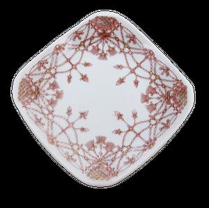 【九谷焼】豆皿 瓔珞文