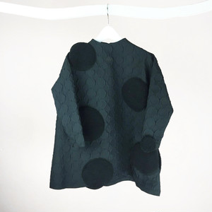 RING MATELASSE UNEVEN DOTS DRESS