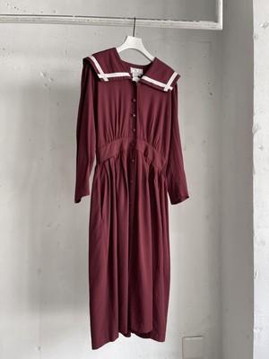 vintage sailor collar dress