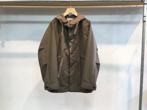 UNIVERSAL PRODUCTS.NYLON HOODED COAT BROWN""
