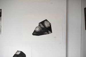 オオヤマネコ作品/版画『バラのおどり』