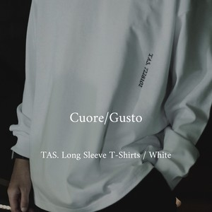 Cuore/Gusto TAS. Long Sleeve T-Shirt(Front Only) / White