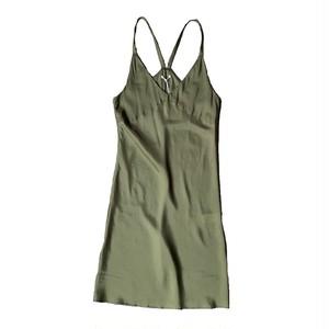 VIOLETTE ROOM : SLIP DRESS (OLIVE)