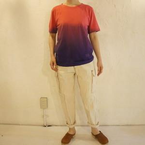 TOPANGA fashion グラデーションTシャツ パープル