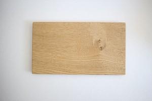 松下由典|木のトレー長方形(Ⅿ)栗材・節あり