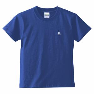 〚KIDS〛5.6oz. ハイクオリティーTシャツ_KOBEイカリマーク_ロイヤルブルー