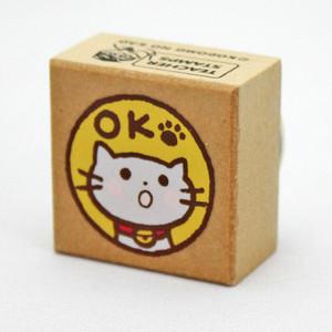 【こどものかお】ティーチャースタンプ「猫・OK」