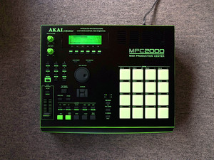 "AKAI MPC2000 ""FLG"" custom by ghostinmpc (32MB RAM, MO DRIVE, 8MB Flash ROM)"