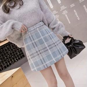 check color mini skirt 2color