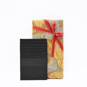 【B.stuff】シンプルカードケース(マチ付き)ブラック