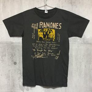 【送料無料 / ロック バンド Tシャツ】 RAMONES / Handwriting Men's T-shirts M ラモーンズ / 手書き風 メンズ Tシャツ M