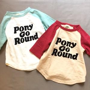 pony go round raglan 3/4 tee