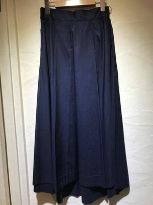 コットンタイプライター素材 ネイビーロングスカート
