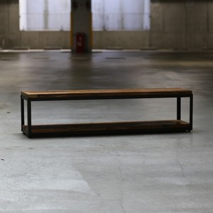 オーダー専用 IRON FRAME LOW SHELF Ⅱ WIDE[BROWN COLOR]縦50cm × 横127cm × 高さ45cm