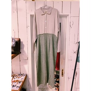"""""""FLAX"""" vintage long shirt one-piece"""