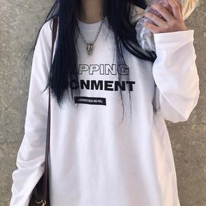 プリント長袖シャツ
