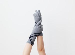 % PERCENT 手袋(CONFORTABLE:ライトグレー・ブラック)指暖・セルフヒーター・ホールガーメント・裏起毛・スマホ対応・ギフト箱付き(男女兼用フリーサイズ)