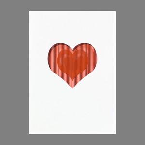 動きの楽しいメッセージカード Heart  #154