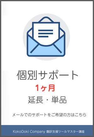 【オプション】メールサポート1ヶ月
