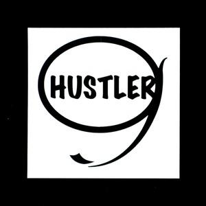 HUSTLER ステッカー(ブラック)