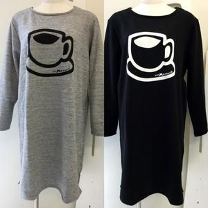 ■コーヒープリント ワンピース