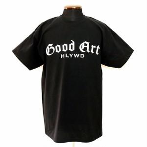 GA ロゴ ラージ Tシャツ ブラック:Good Art HLYWD グッド アート ハリウッド