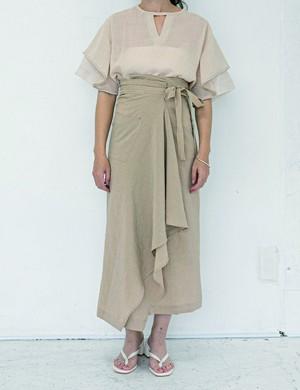 Rolled skirt/ Beige