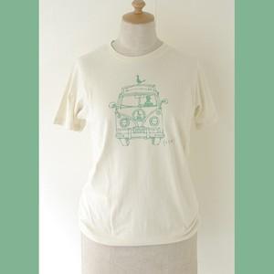 ホトリTシャツ(ナチュラルクリーム×ホトリグリーン)
