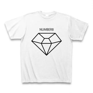 Number8(ナンバーエイト) BIGダイヤモンドTシャツ(ホワイト×ブラック)