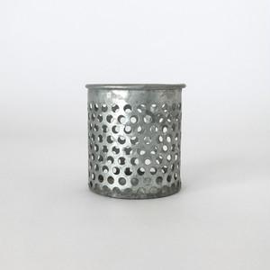 ブリキの鉢カバー パンチングメタル|Punching Metal Tin Pot