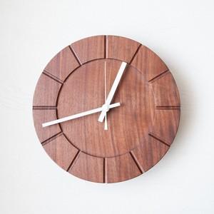 木の時計01(Φ240) No9 | ウォールナット