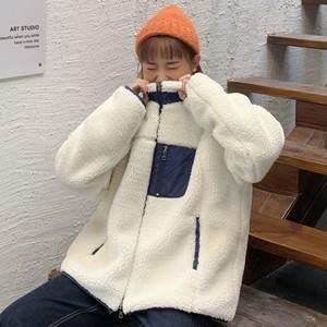 【アウター】韓国系切り替え暖かいコート25123054