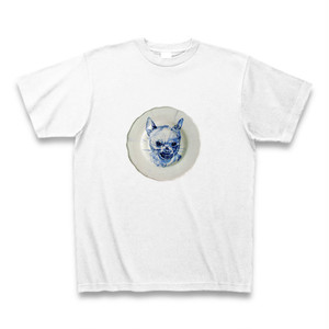 CHIHUAHUA DOG PLATE Tシャツ (angry)