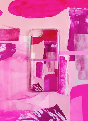 【先行予約 12/6~12/19】I Eye's iPhone case SLIDE iPhone8/7/6s/6対応ケース 「Pink! Pink!」