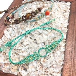 天然石のマクラメ編みブレスレット/花瓶